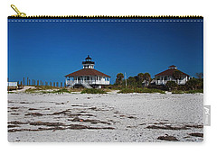 Carry-all Pouch featuring the photograph Boca Grande Lighthouse X by Michiale Schneider