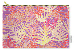 Bodacious Ferns Gold Carry-all Pouch