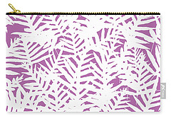 Bodacious Ferns White Carry-all Pouch