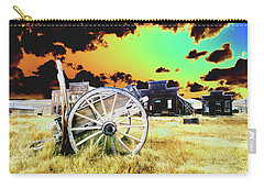 Carry-all Pouch featuring the photograph Bodie Wagon by Jim and Emily Bush