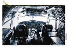 Boeing 747 Cockpit 22 Carry-all Pouch by Micah May