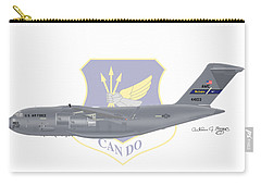Carry-all Pouch featuring the digital art Boeing C-17 Globemaster IIi Mcguire Afb by Arthur Eggers