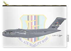 Carry-all Pouch featuring the digital art Boeing C-17 Globemaster IIi Travis Afb by Arthur Eggers