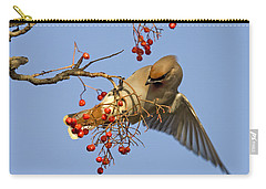 Bohemian Waxwing Carry-all Pouch by Liz Leyden