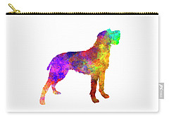Bohemian Wirehaired Pointing Griffon In Watercolor Carry-all Pouch by Pablo Romero