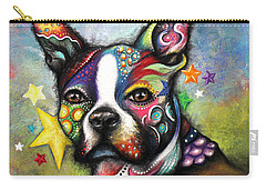 Boston Terrier Carry-all Pouch by Patricia Lintner