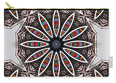 Carry-all Pouch featuring the digital art Boho Flower by Mo T