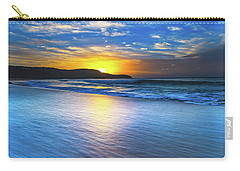 Bold And Blue Sunrise Seascape Carry-all Pouch