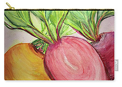 Carry-all Pouch featuring the painting Bold Beets by Kim Nelson
