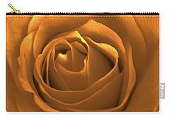 Bold Blossom Copper Rose Carry-all Pouch by Patricia E Sundik