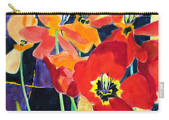 Bold Quilted Tulips Carry-all Pouch