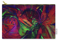 Carry-all Pouch featuring the digital art Bold Red by Deborah Benoit