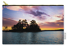 Carry-all Pouch featuring the photograph Bold Sunset Over Lake Martin by Parker Cunningham