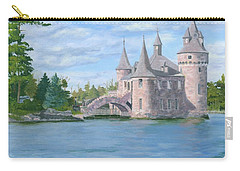 Carry-all Pouch featuring the painting Boldt's Power House by Lynne Reichhart