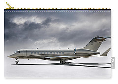 Carry-all Pouch featuring the digital art Bombardier Global 5000 by Douglas Pittman