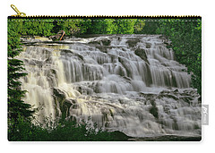 Carry-all Pouch featuring the photograph Bond Falls - Haight - Michigan 001 by George Bostian