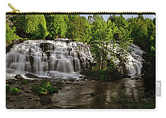 Carry-all Pouch featuring the photograph Bond Falls - Haight - Michigan 003 by George Bostian