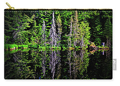 Carry-all Pouch featuring the photograph Bond Falls - Michigan 001 - Reflection by George Bostian