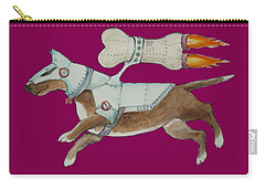 Carry-all Pouch featuring the painting Bone Commander - Apparel  by Jindra Noewi