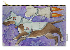 Carry-all Pouch featuring the painting Bone Commander by Jindra Noewi