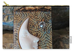 Bone Moon In Gourd Wood #r116 Carry-all Pouch by Barbara Prestridge