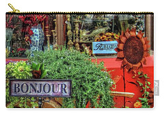 Carry-all Pouch featuring the photograph Bonjour Hello Good Day by Thom Zehrfeld