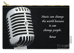 Bono On Music Carry-all Pouch by Paul Ward
