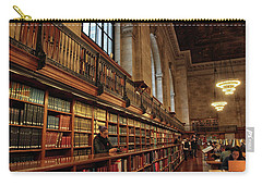 Carry-all Pouch featuring the photograph Book Browsing by Jessica Jenney