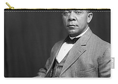 Carry-all Pouch featuring the painting Booker T. Washington by Artistic Panda