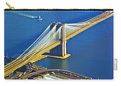 Booklyn And Manhattan Bridges Carry-all Pouch