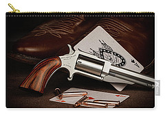 Carry-all Pouch featuring the photograph Boot Gun Still Life by Tom Mc Nemar