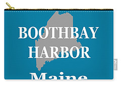 Carry-all Pouch featuring the photograph Boothbay Harbor Maine State City And Town Pride  by Keith Webber Jr