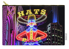 Boots And Hat Neon Sign Carry-all Pouch