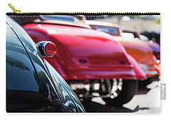 Carry-all Pouch featuring the photograph Boots Of Colorful Cars by Lora Lee Chapman