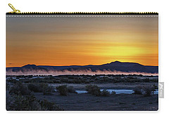 Carry-all Pouch featuring the photograph Borax Lake At Sunrise by Cat Connor