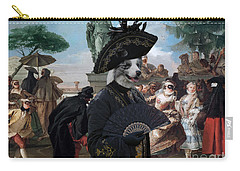 Border Collie Art Canvas Print - The Minuet Carry-all Pouch