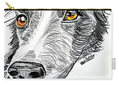 Border Collie Dog Colored Pencil Carry-all Pouch