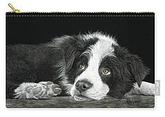 Border Collie Pup For Limited Items Carry-all Pouch