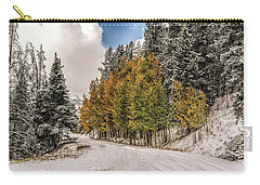 Boreas Pass Road Aspen And Snow Carry-all Pouch by Stephen Johnson
