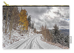 Boreas Pass Tracks Carry-all Pouch by Stephen Johnson