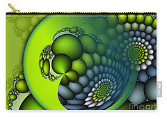 Carry-all Pouch featuring the digital art Born To Be Green by Jutta Maria Pusl