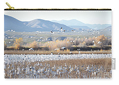 Bosque Del Apache Snow Geese Landscape Carry-all Pouch by Andrea Hazel Ihlefeld
