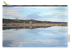 Carry-all Pouch featuring the photograph Bosque Desert Lake by Andrea Hazel Ihlefeld
