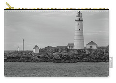 Boston And Graves Lighthouses In Monochrome Carry-all Pouch