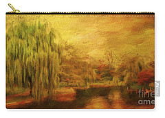 Boston Common In Autumn Carry-all Pouch by Liz Leyden