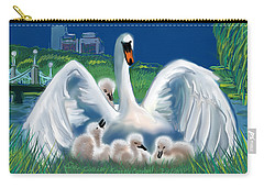 Carry-all Pouch featuring the digital art Boston Embraces Her Own by Jean Pacheco Ravinski
