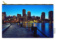 Boston Harbor Walk Carry-all Pouch by Rick Berk