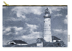 Carry-all Pouch featuring the photograph Boston Light  by Ian Mitchell