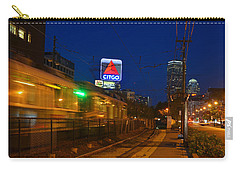 Boston Ma Green Line Train On The Move Carry-all Pouch