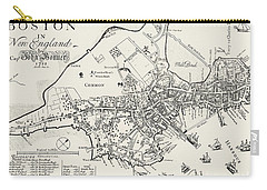 Boston Map, 1722 Carry-all Pouch